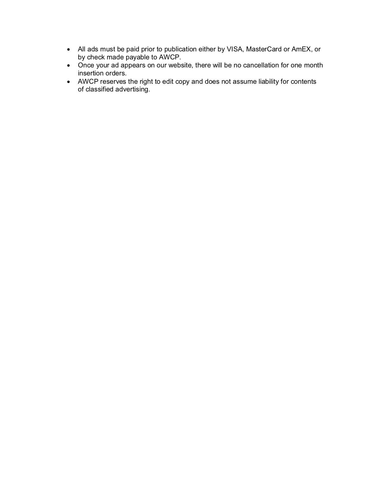 AWCP Career Center Criteria 2